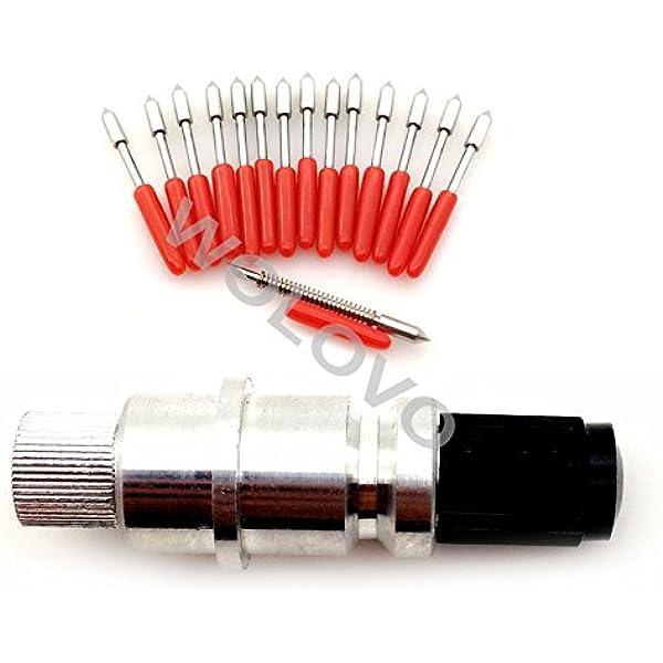 Lot de 15 lampes pour plotter de découpe Craftrobo 45 degrés Graphtec CB09 CB09U + boîtier support pour lames: Amazon.es: Electrónica