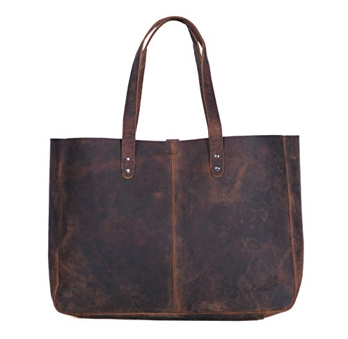17 Shopper (Komalc Genuine Soft Buffalo Leather Tote Bag Elegant Shopper Shoulder BagSALE)