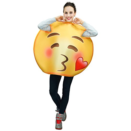 flatwhite Adult Unisex Emoticon Costumes One Size (Blew a Kiss)