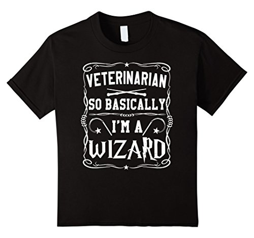 Child Veterinarian Costume Ideas (Kids Veterinarian So Basically I'm A Wizard Magic T-Shirt 10 Black)