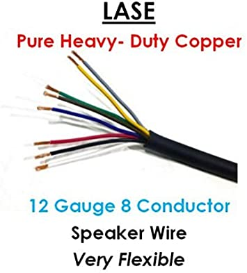 LASE 9 AWG Gauge 9 Conductor Heavy Duty Speaker Wire (Sold in 9 Ft  Increments)