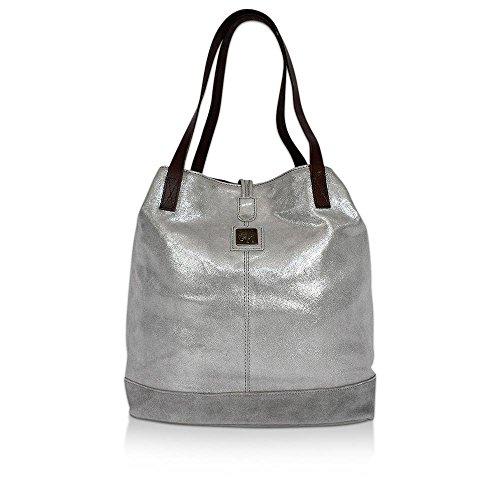 Anokhi, Borsa tote donna Silver, Stone (BxHxT) 40x34x13cm