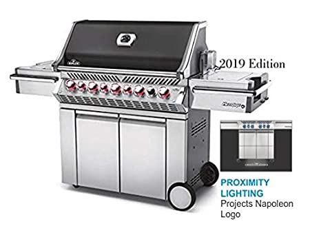 Fuel Type: Natural Gas Connection Napoleon Made in Canada 2019 Prestige Pro 665 Special Edition with Black Lid BBQ Grill in Propane or Natural Gas with New Multi-color LED control knobs and Proximity lighting projects Napoleon logo PRO665RSIB