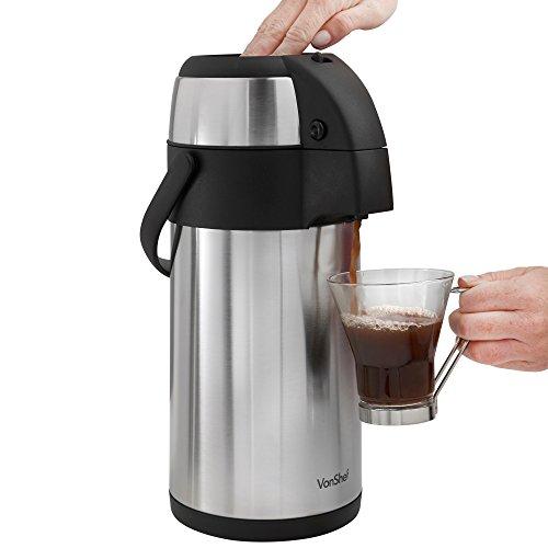 Thermos Pot Beverage Dispenser Pump Carafe Stainless Steel