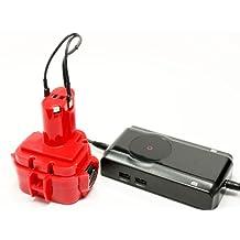 Makita 1050DWA Battery + Charger - Replacement Makita 12V Battery and Charger (1300mAh, NICD)