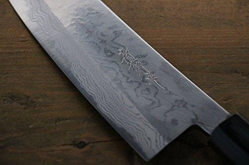 TAKAYUKI IWAI AOGAMI STEEL NO.2 FUMON SERIES SANTOKU JAPANESE CHEF KNIFE by Takayuki Iwai