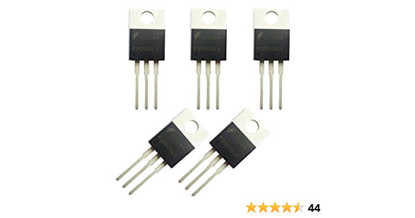 5 x Vishay Siliconix SMP60N03-10L 60A 30V Logic level power mosfet TO220 60N03
