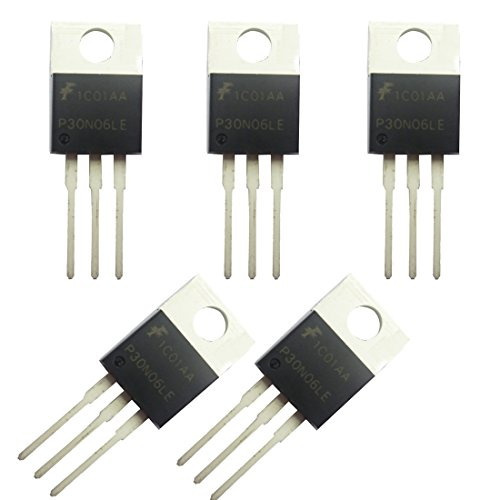 (Jekewin N-Channel Power Mosfet - 30A 60V P30N06LE RFP30N06LE TO-220 ESD Rated Pack of 5)