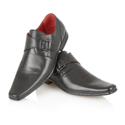 Leather Shoes Mens Italian Office Monk Style Casual Dress Party Shoe Size Black Fzl1l