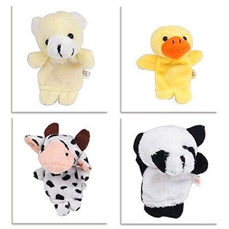Binnan 10 Pcs Juguete Animales de Dedos Marionetas de Mano Animales para Bebé Niños
