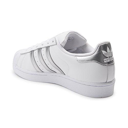 Zapatillas De Deporte Adidas Originals Mujeres Superstar W Fashion (para Mujer 6, Blanco / Plata / Blanco)