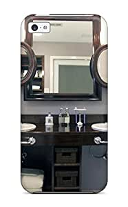 Faddish Phone Bathroom With Twin Sinks And Layered Mirrors Case For Iphone 5c / Perfect Case Cover