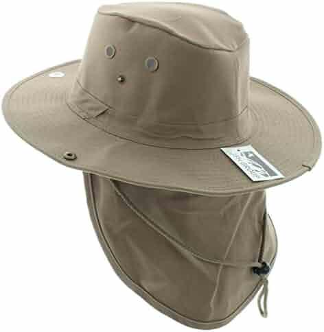 f1cdaeba JFH Wide Brim Bora Booney Outdoor Safari Summer Hat w/Neck Flap & Sun  Protection