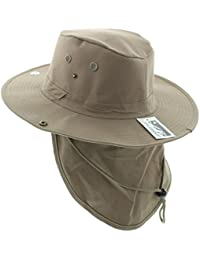 JFH Wide Brim Bora Booney Outdoor Safari Summer Hat w Neck Flap   Sun  Protection 6f116d254271