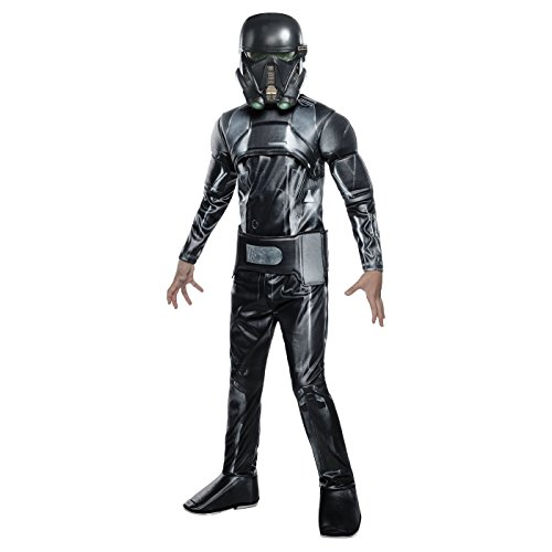 Deluxe Death Trooper Costume Star Wars Rogue One Halloween Boys MED (China Girl Halloween Costume)