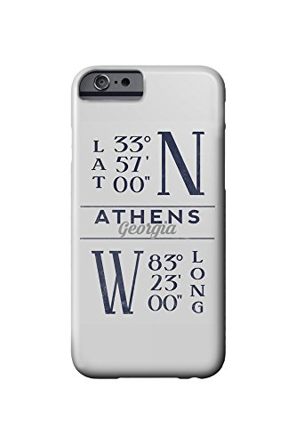 Athens, Georgia - Latitude and Longitude (iPhone 6 Cell Phone Case, Slim Barely - Georgia Images Athens