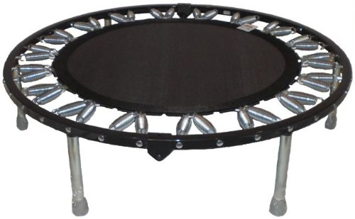 Needak Mini-trampoline Rebounder R04 non-folding Black for Heavier Users. Supports Weight of Over 300 pounds. by Needak