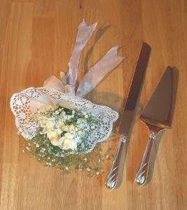 Brass & Silver Traditions Eternity Cake Knife Set