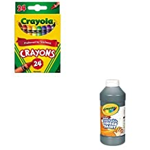 KITCYO523024CYO551316051 - Value Kit - Crayola Washable Fingerpaint (CYO551316051) and Crayola Classic Color Pack Crayons (CYO523024)