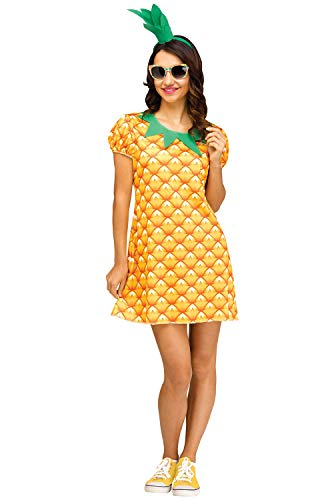 Fun World Women's Pineapple Flirty Fruit, Yellow, S/M Size -
