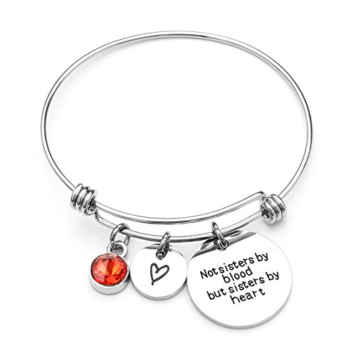Price comparison product image Best Friends Bracelets- Not Sisters By Blood But Sisters By Heart Bracelet- Sister Jewelry (January)