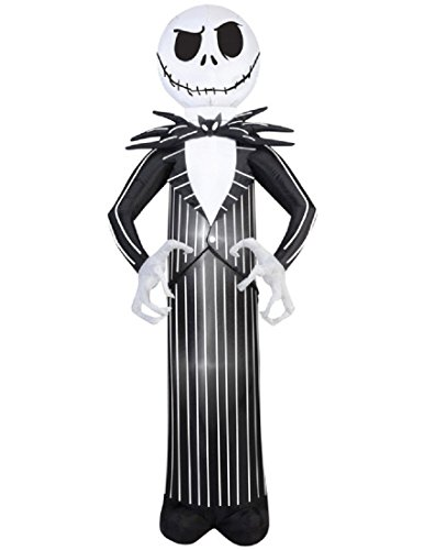 Airblown Inflatable Jack Skellington Nightmare Before Christmas Halloween Decoration 7' Tall ()
