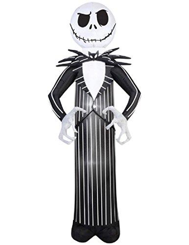 Airblown Inflatable Jack Skellington Nightmare Before Christmas Halloween Decoration 7' Tall -