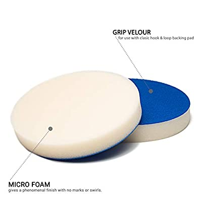 Glass Polish GP16002 PRO-Line Compounding Foam Pad with Hook and Loop Fastener - Professional Detailing Pads/Diameter 5 inch: Automotive