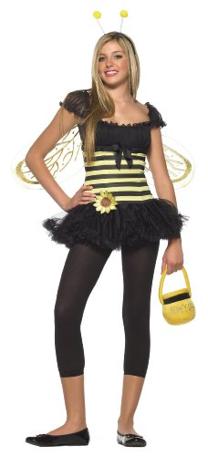 Leg Avenue Women's 3 Piece Sunflower Bee Dress, Black/Yellow, Medium/Large