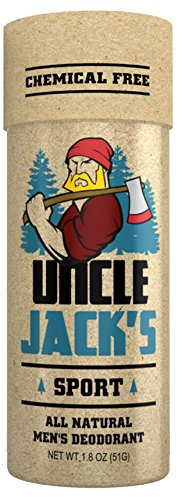 Uncle Jacks Sport   All Natural Mens Deodorant Anit Perspirant   Aluminum Free  Paraben Free  Non Gmo   Vegan  Phthalate Free For Men