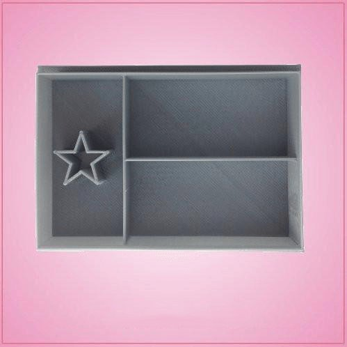 - Texas Flag Cookie Cutter 2-1/4?inches tall, 3-1/2 inches wide