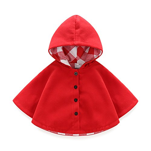 Boarnseorl Newborn Baby Boy Baby Girl Unisex Clothes Cotton Hooded Red Cloak - http://coolthings.us