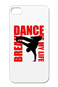 Hip Hop Is My Life Spreadshirt Music Danse Dance Sport Break Music Musique Red Case Cover For Iphone 4/4s
