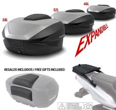 Kit-shad-2387 - Kit fijacion y Maleta baul Trasero + Respaldo Pasajero Regalo sh59x Compatible con Yamaha Tracer 700 2016-2016