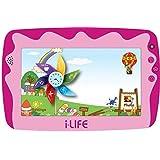 تابلت للاطفال 4-7 انش، واي فاي، بلون زهري من اي لايف 8GB, 512MB RAM 2724300202039