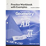 Geometry: Concepts and Skills: Practice Workbook with Examples Teacher Edition