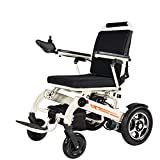 Electric Wheelchair Folding Lightweight Automatic Aluminum Alloy Frame PU Controller Lightweight Multi-Function Disabled Old Age Disabled Electric Wheelchair Easy To Store