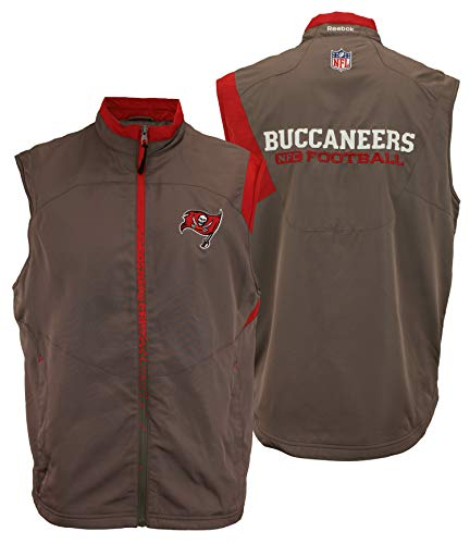 Reebok NFL Men's Tampa Bay Buccaneers Full Zip Vest, Pewter Large ()