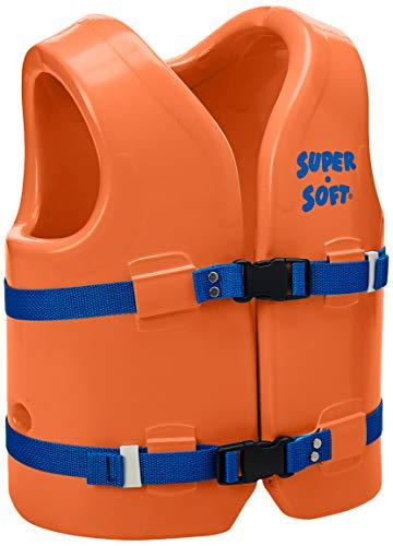 (TRC Recreation Kids Super Soft USCG Vest, Orange Breeze, Youth)