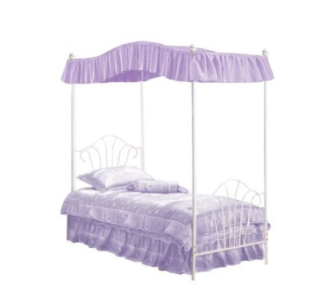 Amazon.com New Twin White Metal Canopy Bed Set with Light Pink Eyelet Canopy Fabric Drape! Kitchen u0026 Dining  sc 1 st  Amazon.com : twin canopy bed set - memphite.com