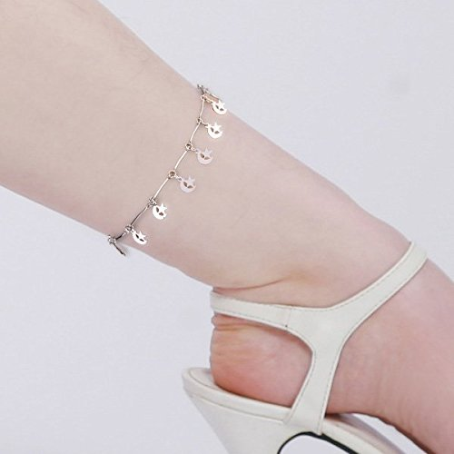 Chain Lobster Fashion Bracelet - Ecloud Shop Metal Moon Star Lobster Clasp Anklet Ankle Bracelet Chain