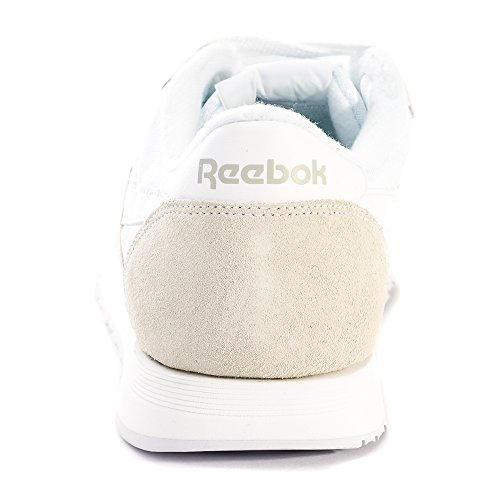 Reebok Uomo Classic Nylon (bianco / Grigio Chiaro) Bianco / Grigio Chiaro