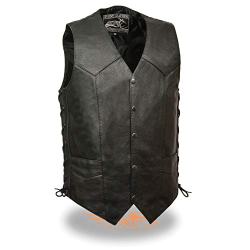 big and tall leather vest - 4