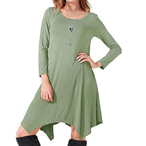 Cou Longue Tops Shirts lannister Blouse Casual Blouse Fille Grün Couleur Irrégulier Robe Pure Automne Femmes Blouses T Asymétriques Printemps Rondes Qk Vintage Manches WHqf4YTT