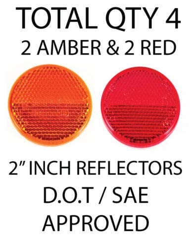 [ALL STAR TRUCK PARTS] Qty 4 (2 Red/2 Amber) - 2