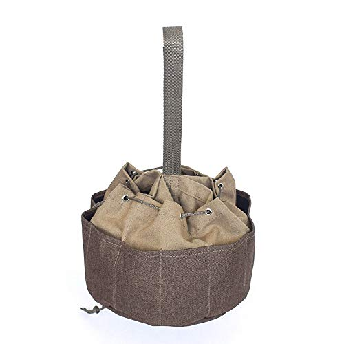 AutumnFall Sky Umbrella Canvas Kit Multifunctional Tools Bag Package Electrician Hardware Accessories Storage Bags (Khaki)