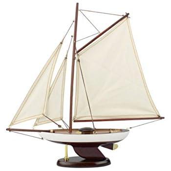 "Hampton Nautical  Decorative "" Sailboat Model Yacht - ating Ideas - Nautical Gift - Nautical Home Toy Figure"