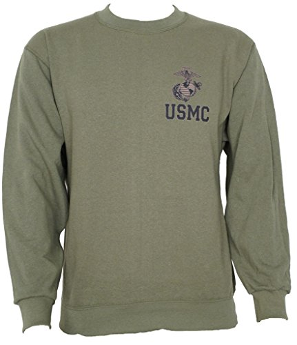 USMC Genuine Issue Army Sweatshirt Olive Drab Green (Marines Adult Sweatshirt)
