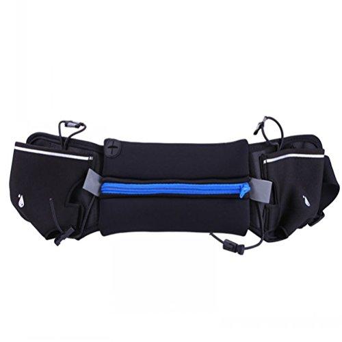 WINOMO Running Pouch Belt Waist Pack Belt Travel Pouch for Running Hiking Cycling Dog Walking 4''-6'' Smartphoe Money Coins Keys Passport Holder - Blue by WINOMO