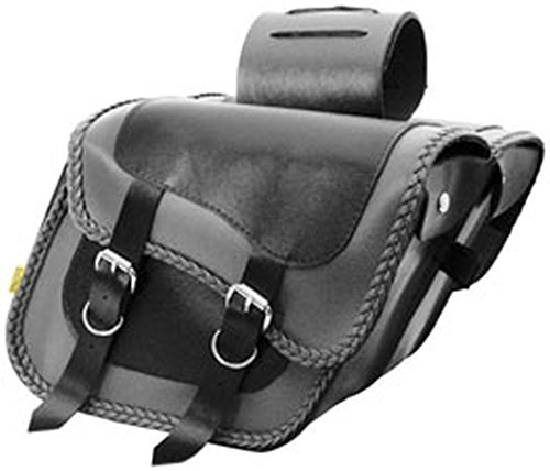 Willie and Max Gray Thunder Braided Compact Slant Saddlebags - 12in.W x 9-1/2in.H x (Slant Braided Compact)